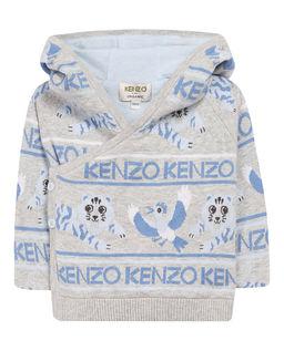 Szary sweter z kapturem 0-3 lata