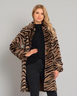 Płaszcz ze wzorem zebry