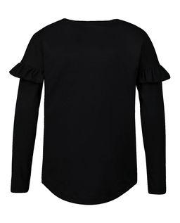 Czarna koszulka z nadrukiem 6-14 lat