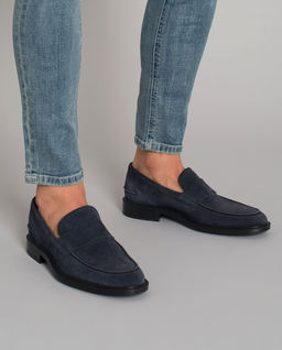 Loafery ze skóry zamszowej