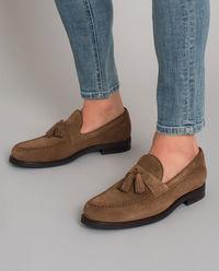 Loafery z zamszu