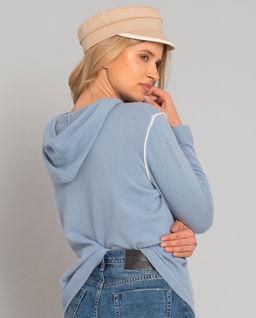 Bluza z kaszmiru z kapturem