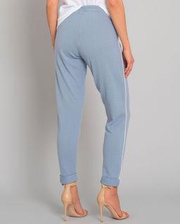 Kaszmirowe błękitne spodnie