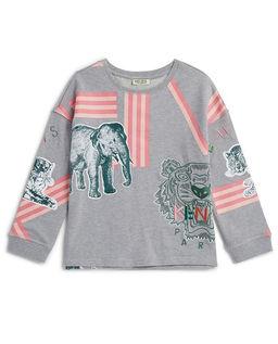 Szara bluza z nadrukiem 6-12 lat