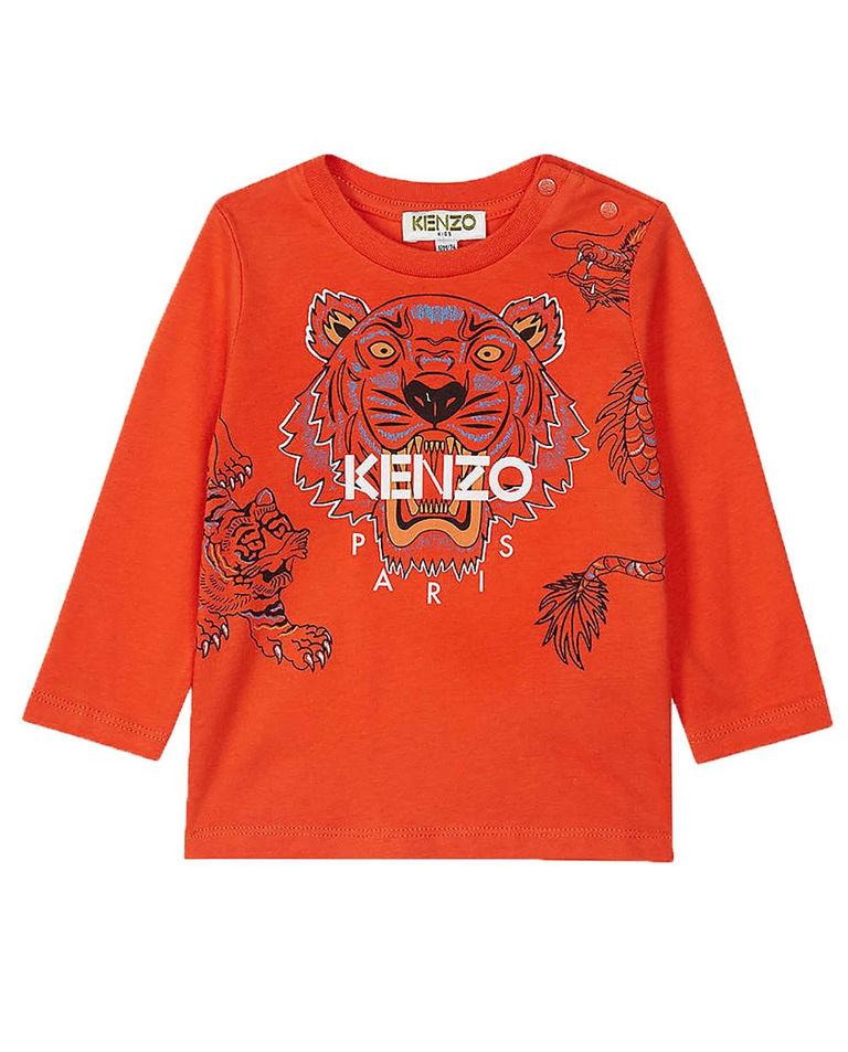 Pomarańczowa bluza z nadrukiem 0-2 lata