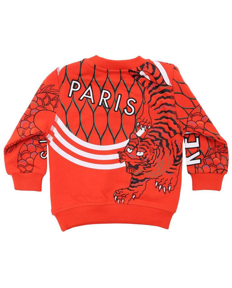 Pomarańczowa bluza z tygrysem 0-2 lat