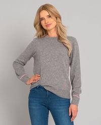 Šedý svetr z kašmíru