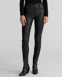 Czarne spodnie ze skóry
