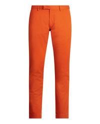 Pomarańczowe spodnie Slim Fit
