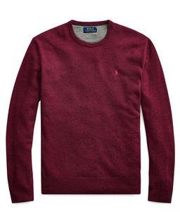 Bordowy sweter z wełny merino