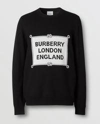 Czarny sweter z wełny merynosowej