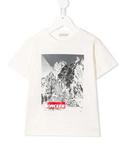 Biała koszulka z nadrukiem 8-14 lat