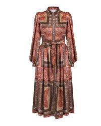 Sukienka z motywem roślinnym Janet