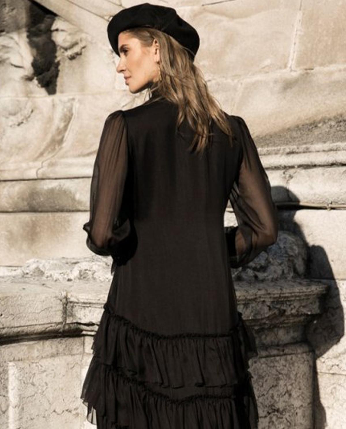 Czarna sukienka z jedwabiu Oh la la