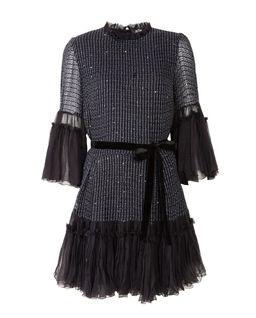 Jedwabna sukienka z cekinami Arya