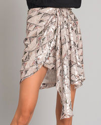 Spódnica mini w geometryczny wzór