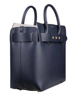 Niebieska torba ze skóry