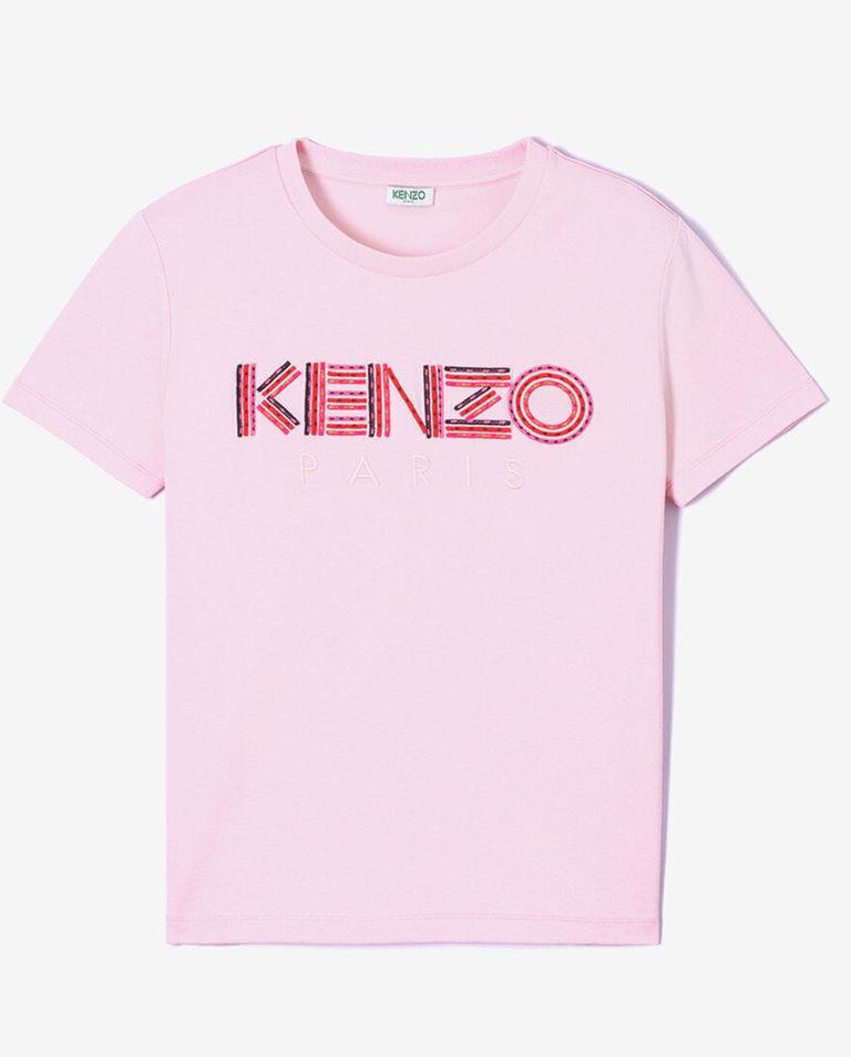 Różowa koszulka z logo