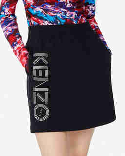 Czarna spódnica z logo