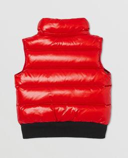 Czerwona kamizelka puchowa 4-10 lat