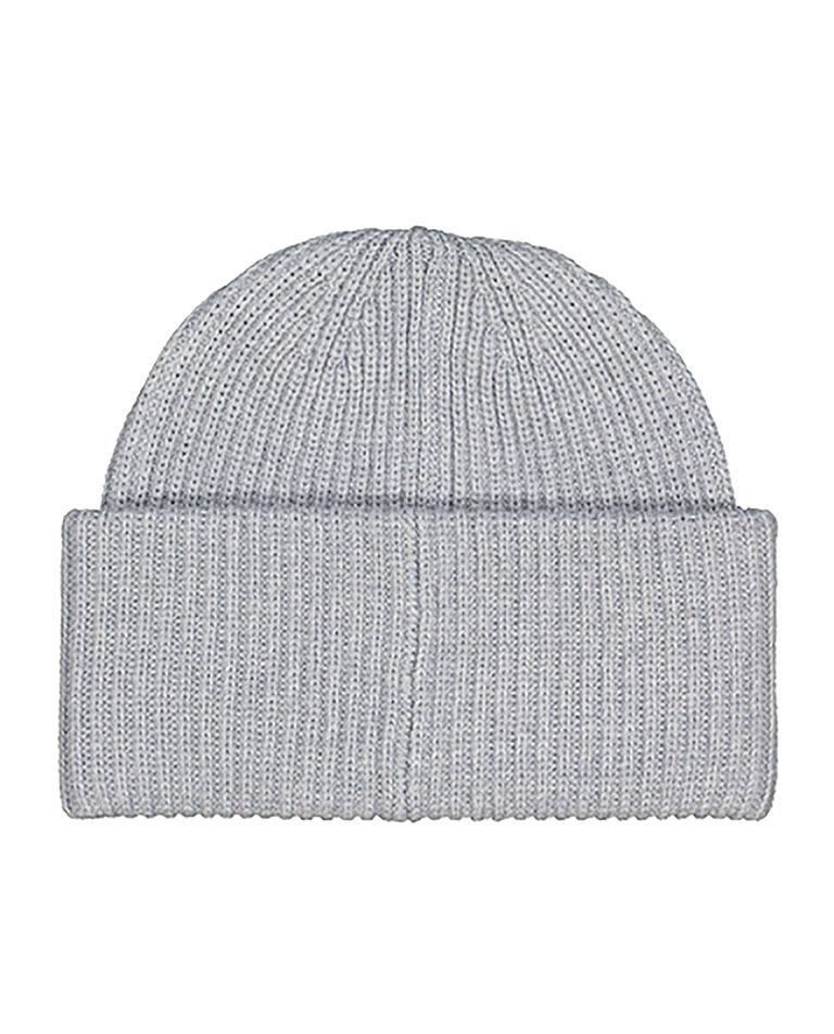 Jasnoszara czapka z wełny