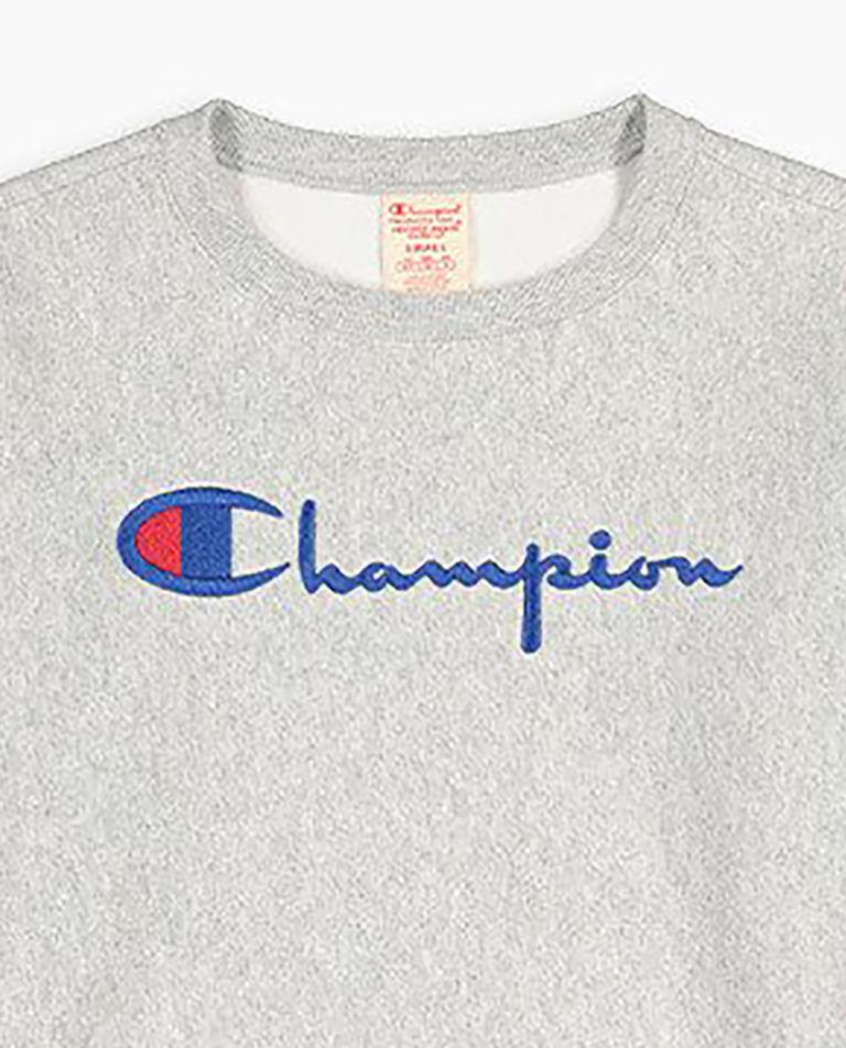 Szara bluza z haftowanym logo