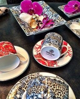 Zestaw 2 filiżanek do herbaty Flowers