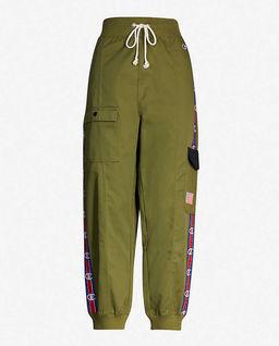 Zelené kalhoty cargo