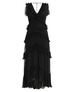 Plisowana asymetryczna sukienka