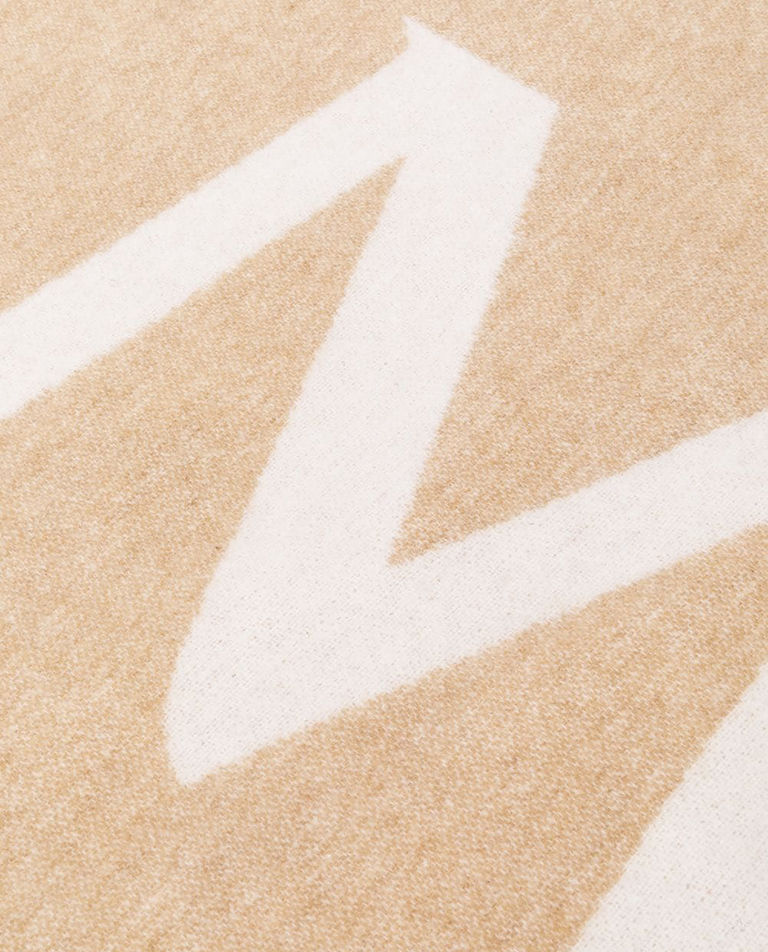 Beżowy szalik z logo