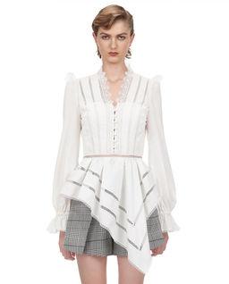 Asymetryczna bluzka z koronką