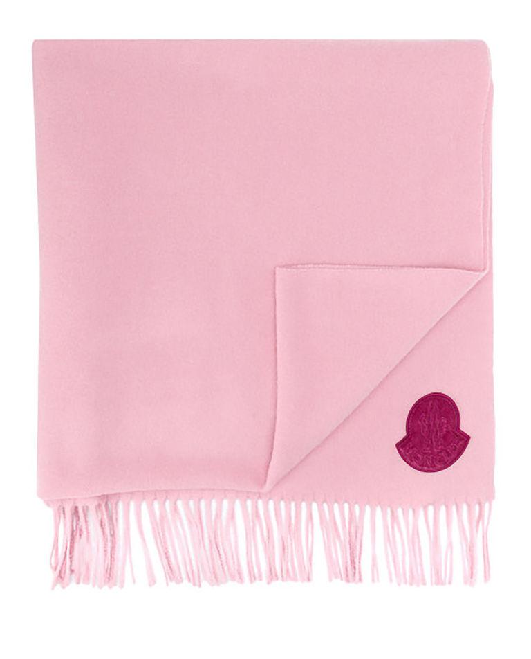 Różowy szalik z wełny