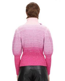 Różowy sweter z długim rękawem