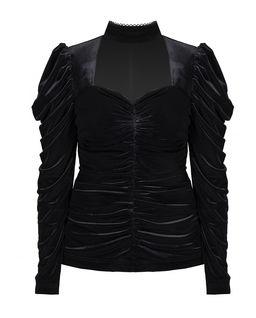 Bluzka z chokerem Black Velvet