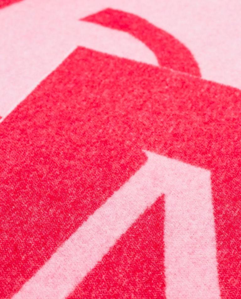 Różowy szalik z logo