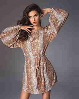 Sukienka z cekinami Solange