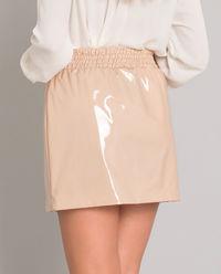 Beżowa spódnica z kryształami