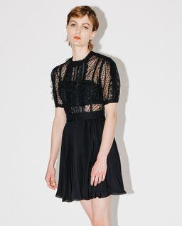 Koronkowa sukienka z cekinami