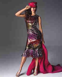 Sukienka cekinowa Bellani
