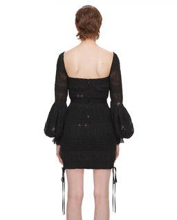 Czarna szyfonowa sukienka