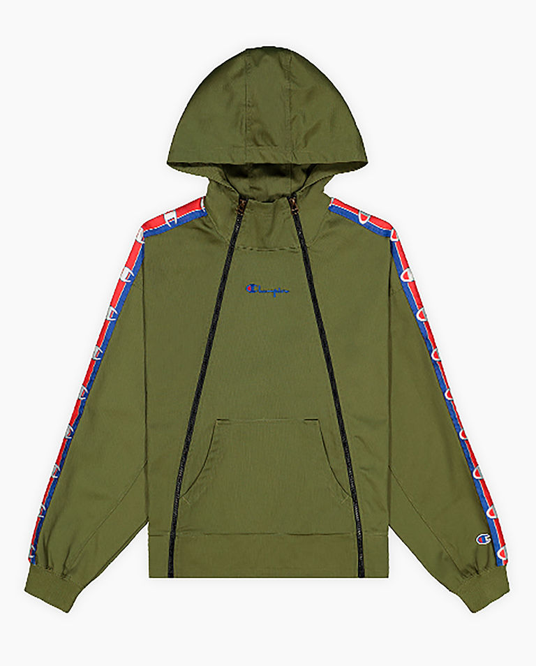 Zielona bluza z kapturem
