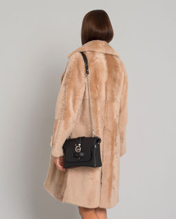Dwustronny płaszcz ze skóry owczej
