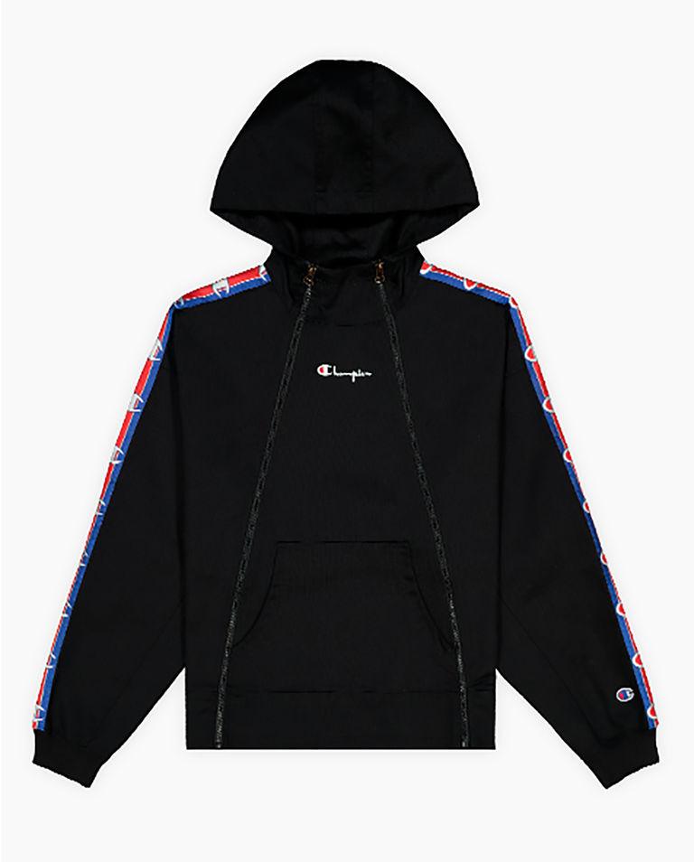 Czarna bluza z podwójnym suwakiem