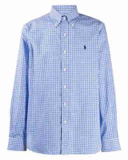 Koszula w kratę z bawełny Custom Fit