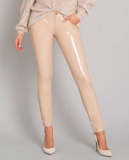 Beżowe spodnie z połyskiem