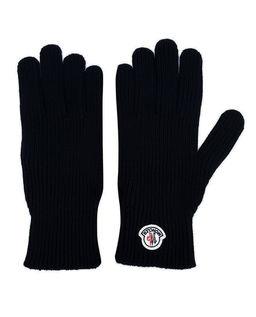 Czarne rękawiczki z logo