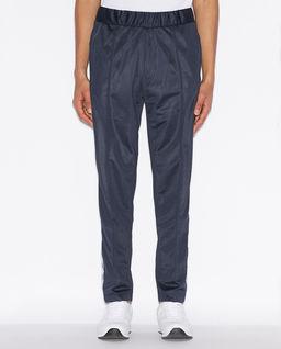 Granatowe spodnie z logo