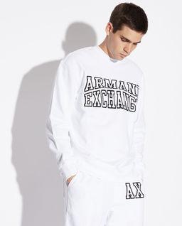 Biała bluza z logo