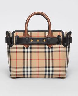 Beżowa torebka w kratę