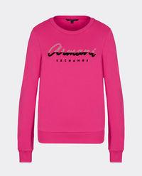 Różowa bluza z logo